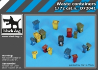 Sorted waste containers